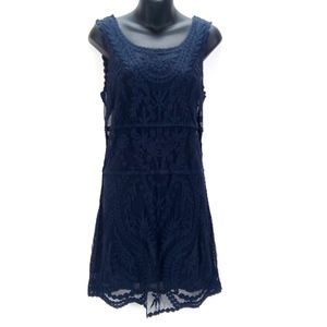 Express 100% Cotton Lace Shift Sleeveless Dress S